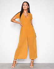 Glamorous Mustard Wide Leg Jumpsuit