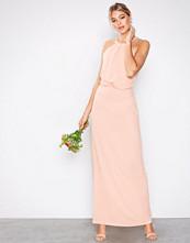 Ax Paris Blush Halter Lace Back Dress