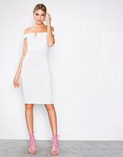 Ax Paris White Bardot Midi Dress