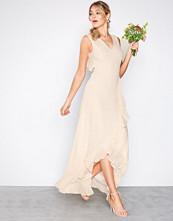 TFNC Light Beige Rosie Maxi Dress