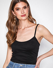 Missguided Black Strappy Cami Vest Top
