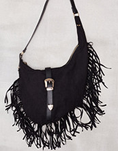 Missguided Black Western Buckle Shoulder Bag