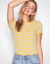 New Look Mustard Stripe Ribbed T-Shirt