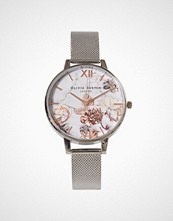 Olivia Burton Silver/Rose Marble Florals
