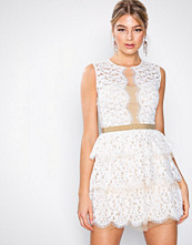 U Collection Ivory/Nude Lace Sleeveless Dress