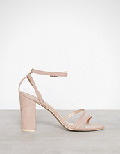 NLY Shoes Dusty Pink Double Strap Block Sandal