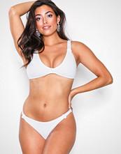 Missguided White Knot Front Rib Bikini Set