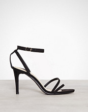 NLY Shoes Svart Double Strap Heel Sandal