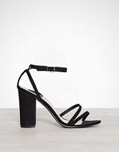 NLY Shoes Svart Double Strap Block Sandal