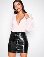 NLY One Patent Zip Skirt
