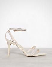 NLY Shoes Beige Rhinestone Heel Sandal