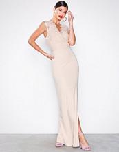 Ax Paris Blush Eyelash Lace Maxi Dress