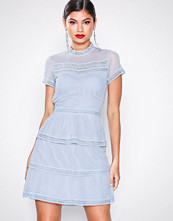 Neo Noir Dusty Blue Veronica Dress