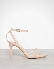 NLY Shoes Dusty Pink Double Strap Heel Sandal