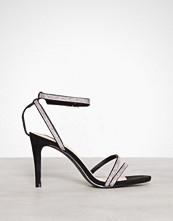 NLY Shoes Svart Rhinestone Heel Sandal