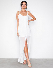 Missguided White Button Down Maxi Dress