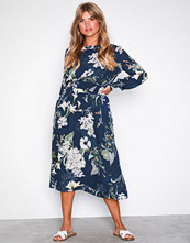 Only Mørk blå onlALMA L/S Smock Long Dress Wvn