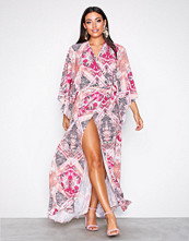 NLY One Mønstret Resort Wrap Maxi Dress