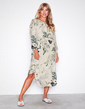 Only Lys grå onlALMA L/S Smock Long Dress Wvn