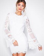 Missguided White Key Hole Back Mini Dress
