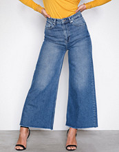 Selected Femme Blå Sfcarry Xhr Cropped Wide Jeans J