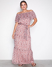 Neo Noir Creme Anna Printed Maxi Dress