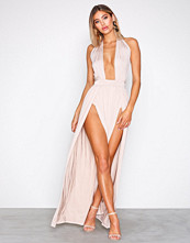 NLY One Beige Cross Front Slit Maxi