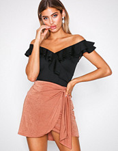 NLY One Brown Drapy Mini Skirt