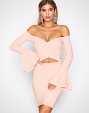 NLY One Rosa Trumpet Wrap Bust Dress