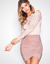 NLY One Beige Wrapped Mini Skirt