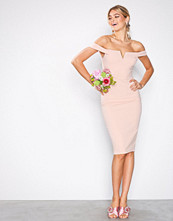 Ax Paris Blush Bardot Midi Dress