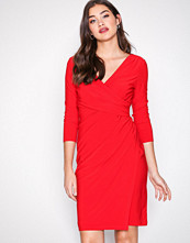 Lauren Ralph Lauren Red Electa 3/4 Sleeve Dress