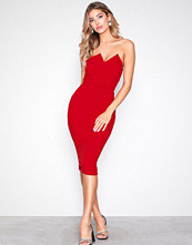 Ax Paris Red Bandeau Bodycon Dress