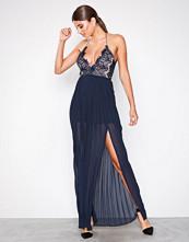 Rare London Navy Body Lace Thin Strap Dress