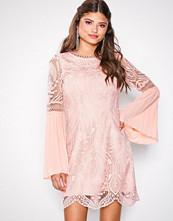 River Island Light Pink LS Crawford Bodycon Dress