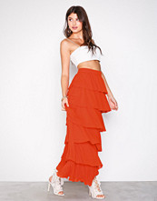 Vila Orange Vivoulan Maxi Skirt