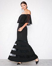 Lauren Ralph Lauren Black Shaynie Elbow Sleeve Evening Dress