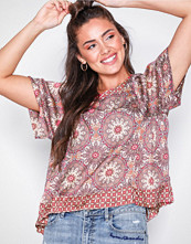 Odd Molly Mahogany honey-coated s/s blouse