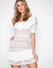 For Love & Lemons White Lovebird Lace Mini Dress