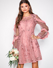True Decadence Dusty Pink Floral Lace Dress