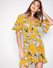 Ax Paris Floral V-Neck Frill Dress
