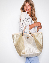 River Island Neutral Oversized Beach Bag