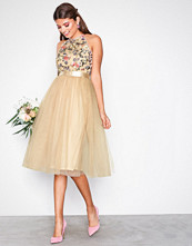 TFNC Peach Cydney Midi Dress