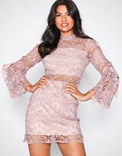 Parisian Pink Lace Mini Dress