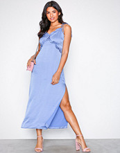 Glamorous Blue Frill Strappy Dress