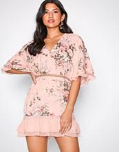 Parisian Pink Frill Sleeve Dress
