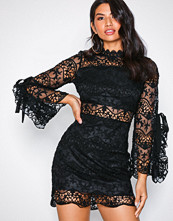 Parisian Lace Mini Dress Black