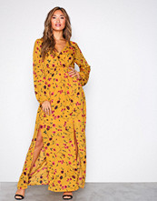 Glamorous Mustard Long Sleeve Maxi Dress