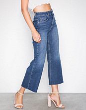 Gina Tricot Mid Blue Lo wide cropped jeans