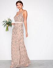 Maya Mauve Heavily Embellished Cami Maxi Dress